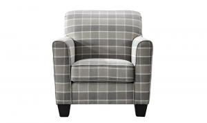 Braemar-Accent-Chair-Beige-Check-Straight-1