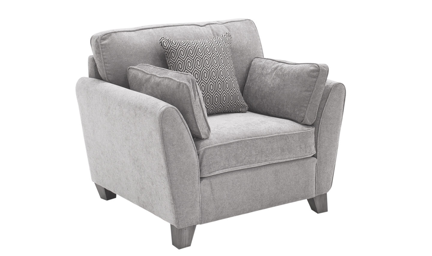 Cantrell 1 Seater Silver