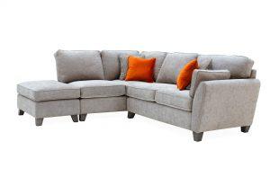 Cantrell Left Hand Facing Corner Sofa Silver