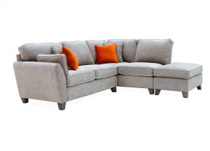 Cantrell Right Hand Facing Corner Sofa Silver