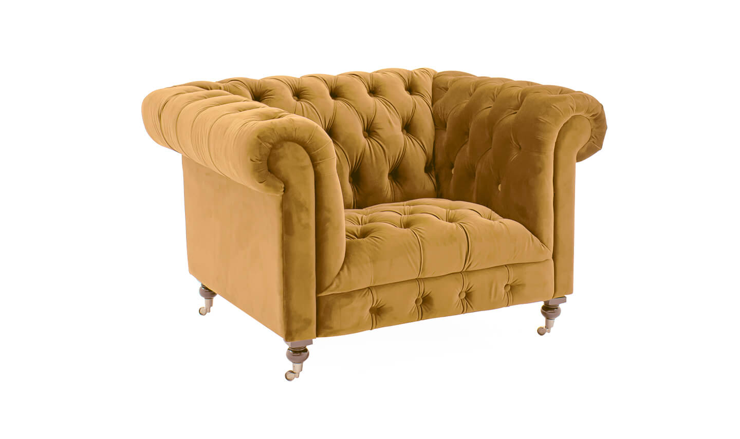Darby 1 Seater Mustard