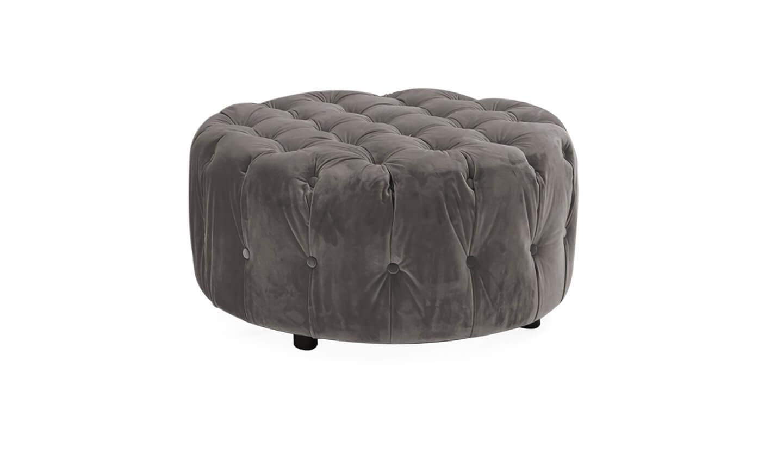 Darbry Round Footstool Grey