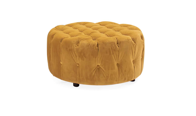 Darbry Round Footstool Mustard