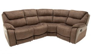 Santiago Corner Recliner Sofa Brown