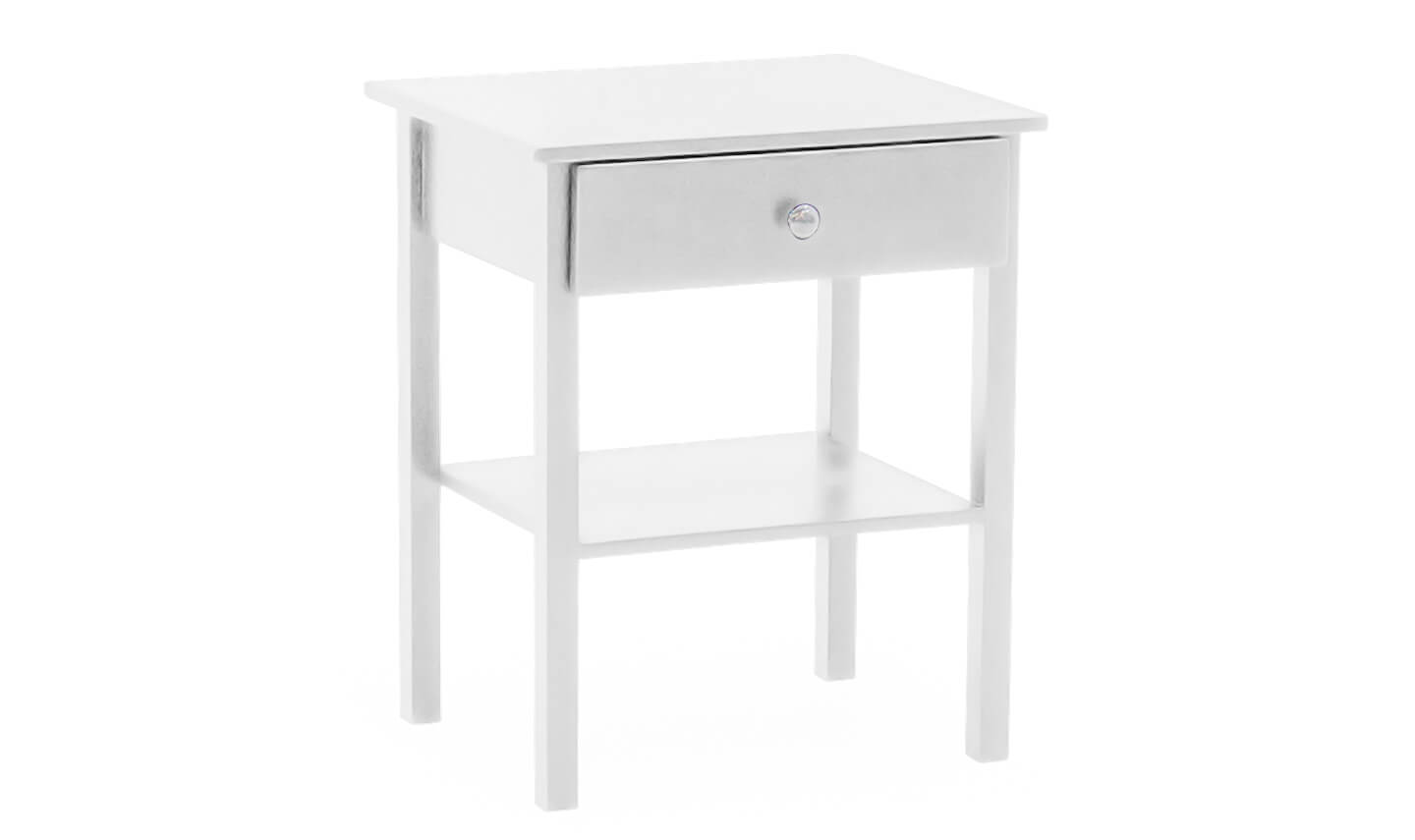 Willow Bedside Table White