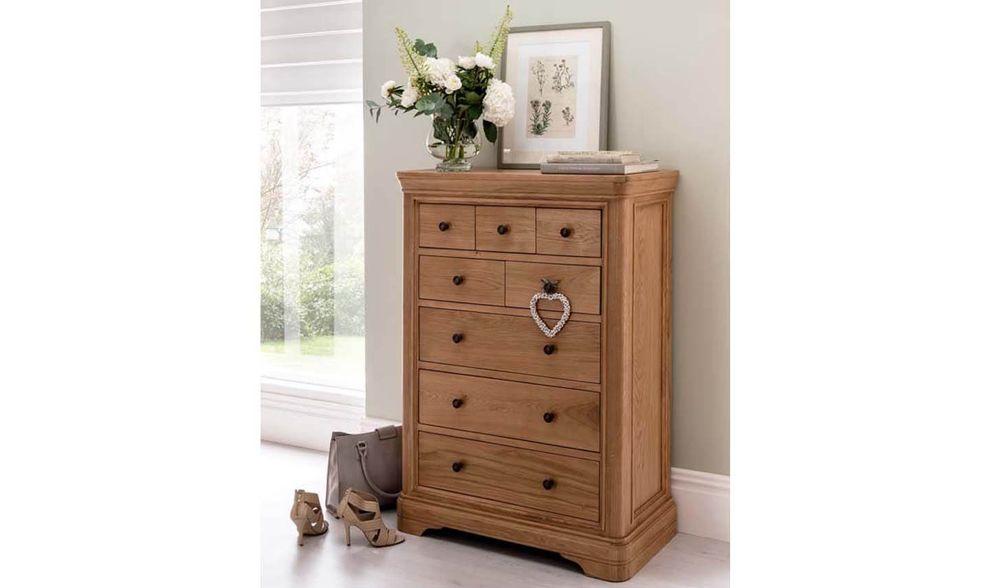 Carmen Tall Chest 8 Drawer