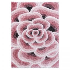 Luxus-Flower-Rug-Pink