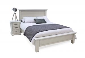 Harlow 4'6 Bed White