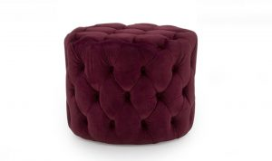 Perkins Footstool Crimson