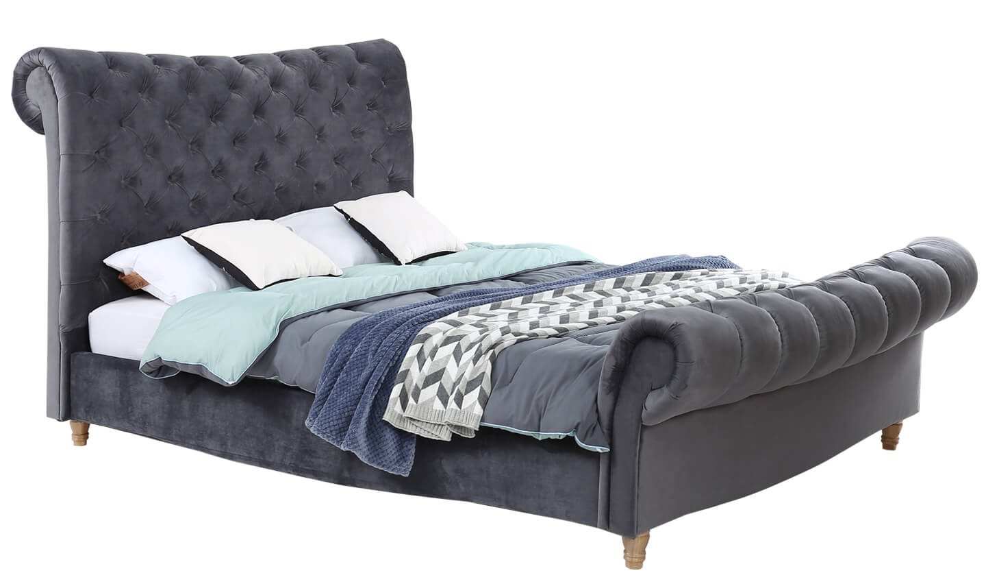 Sloane 4'6 Bed Grey