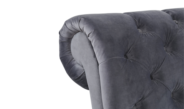 Sloane 4'6 Bed Grey
