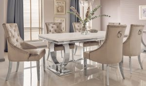 Arianna Cream Dining Table 200cm