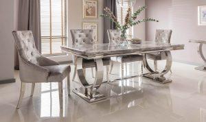Arianna Grey Dining Table 180cm