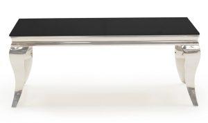 Louis Black Coffee Table 130cm