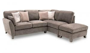 Cantrell Right Hand Facing Corner Sofa Mushroom