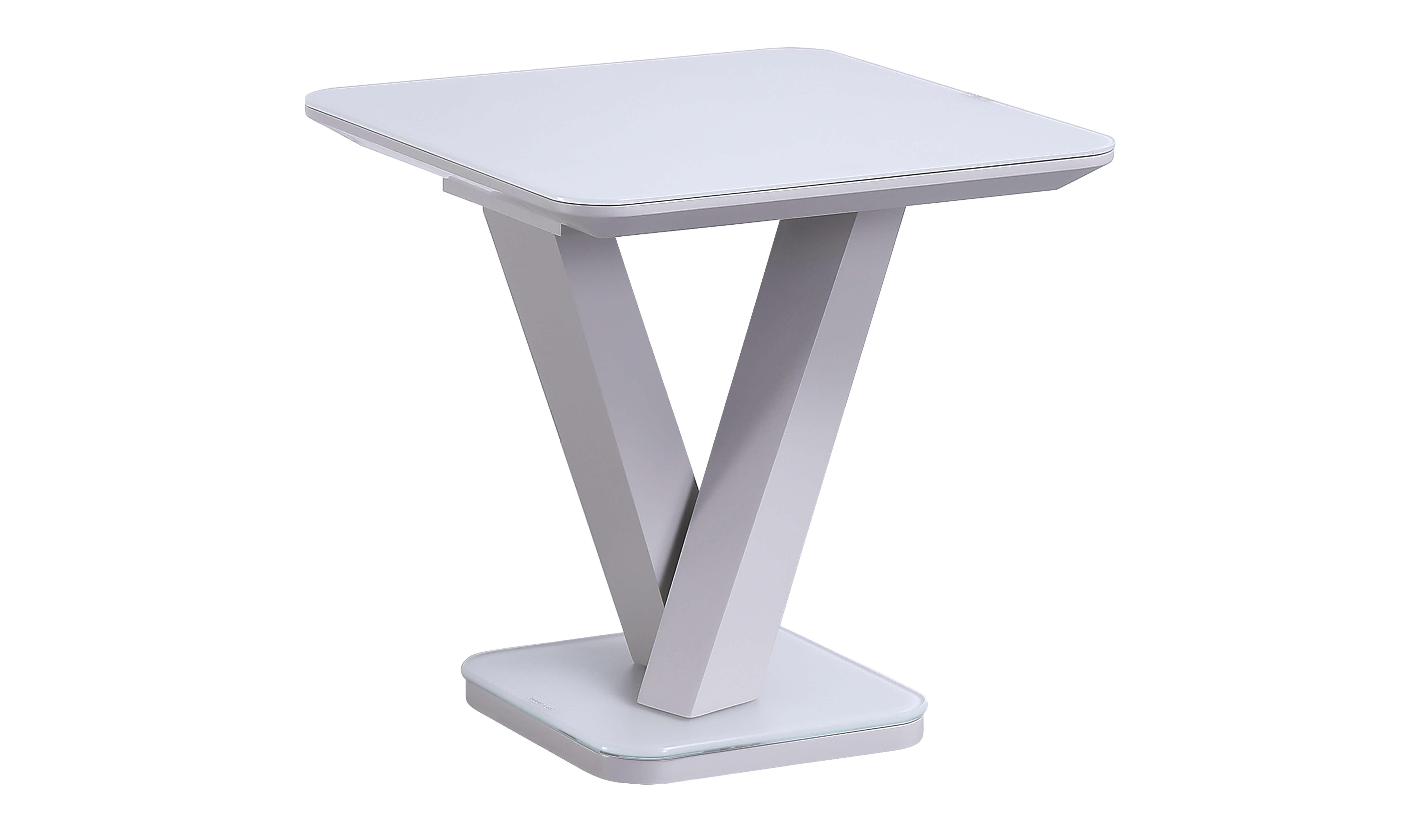 Rafael Lamp Table - Light Grey