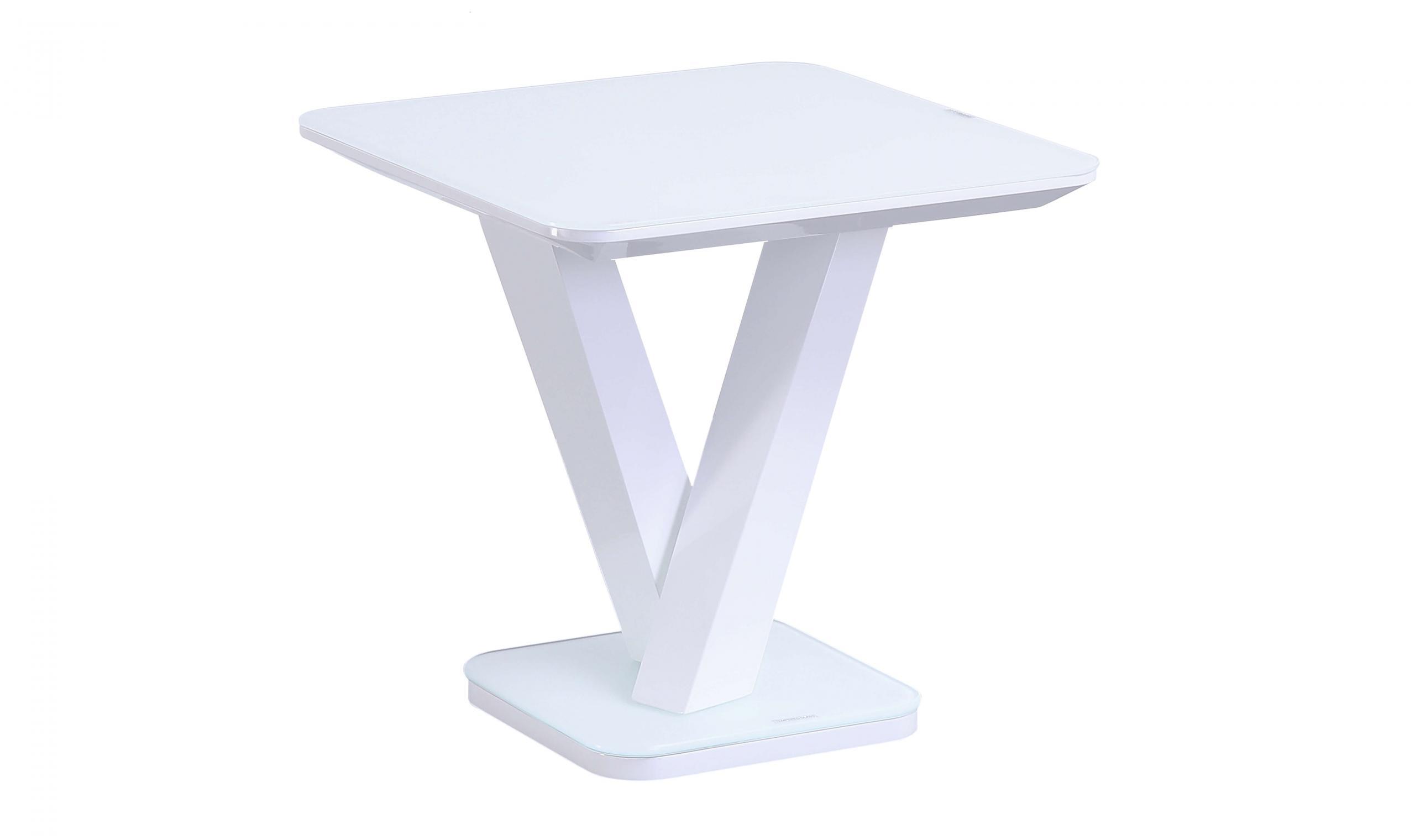 Rafael Lamp Table - White