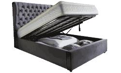 Bella Fabric 4'6 Storage Bed