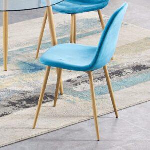 Oslo Blue Velvet Chair