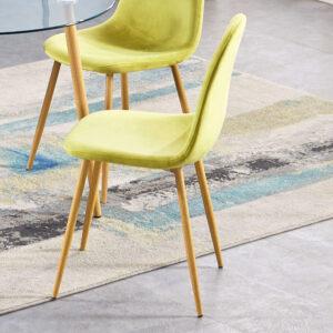 Oslo Green Velvet Chair