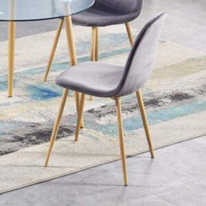 Oslo Grey Velvet Chair