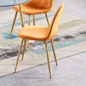 Oslo Orange Velvet Chair
