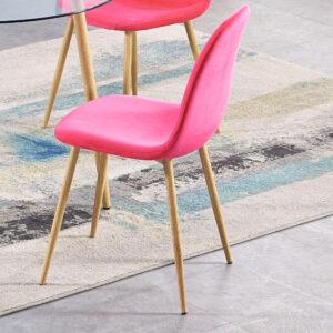 Oslo Pink Velvet Chair