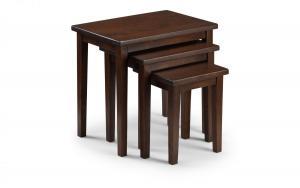 Cleo Mahogany Nest of Tables