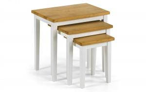 Cleo White and Oak Nest of Tables