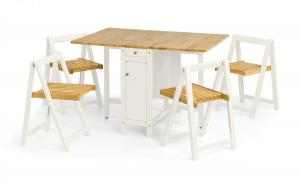 Savoy White & Light Oak Dining Set