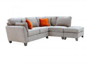 Cantrell Right Hand Facing Corner Sofa Silver
