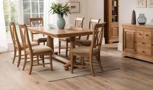 Carmen Dining Chair with Fabric Seat