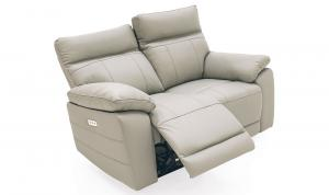 Positano-2-Seater-Electric-Recliner-Light-Grey-Angle-Open-1