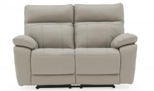 Positano-2-Seater-Electric-Recliner-Light-Grey-Staight