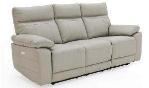 Positano-3-Seater-Electric-Recliner-Light-Grey-Angle