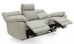 Positano-3-Seater-Electric-Recliner-Light-Grey-Angle-Open