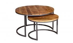 Savannah Round Coffee Table – Set of Two
