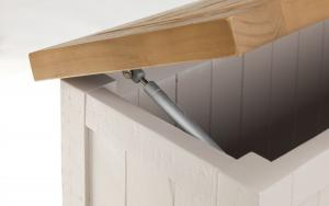 Aspen Grey Wash Storage Bench