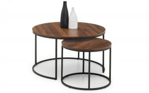Bellini Walnut Nesting Coffee Tables