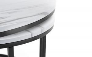 Bellini White Marble Nesting Coffee Tables