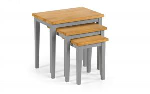 Cleo Grey and Oak Nest Tables