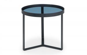 Loft Smoked Glass Lamp Table