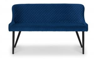 Luxe Blue High Back Dining Bench