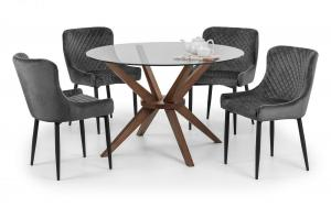 Luxe Grey Dining Chair