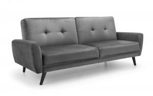 Monza Dark Grey Velvet Sofa Bed