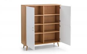 Moritz White & Oak 4 Door Cabinet