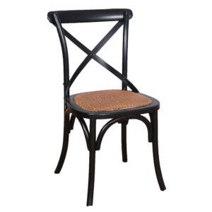 Cross Back Chair Black