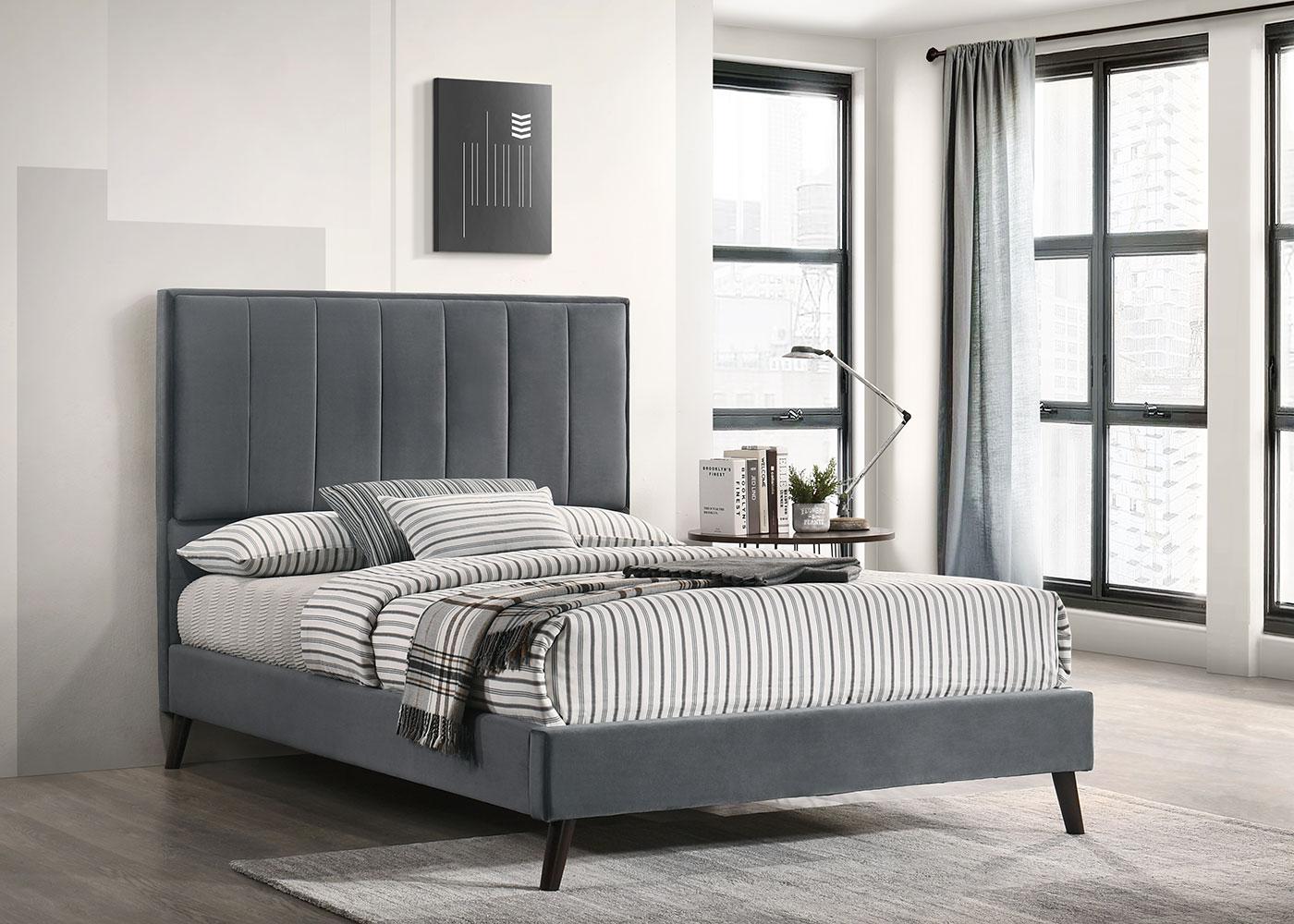 Elsa Dark Grey 4'6 Bed
