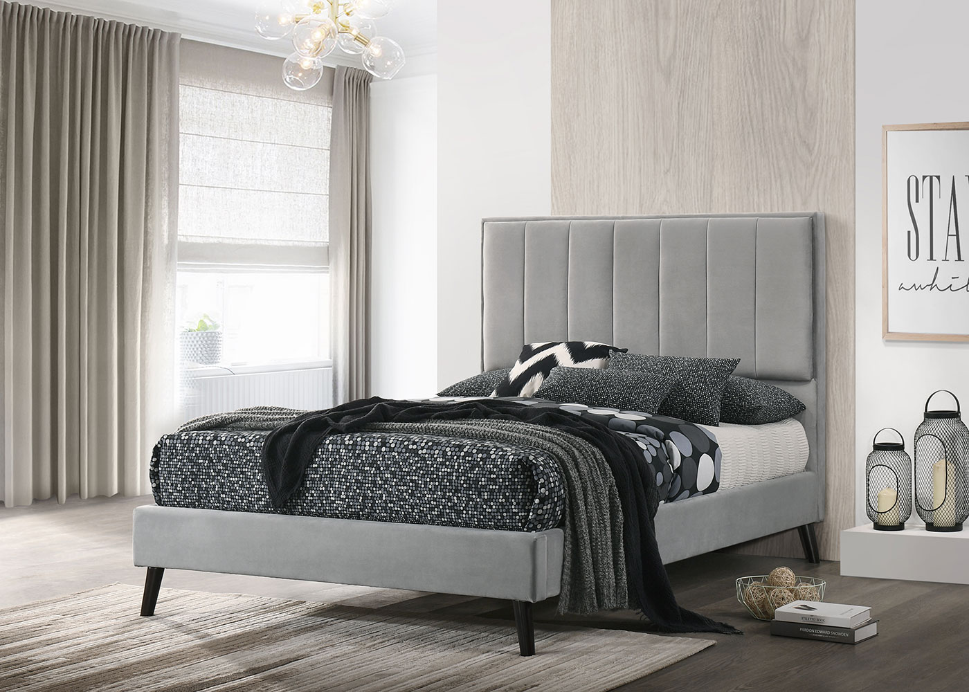 Elsa Light Grey 5' Bed
