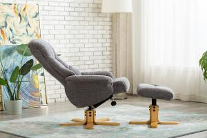 Florence Swivel Recliner Charcoal Lille
